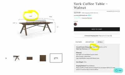 Courtney Griggs verified customer review of York Coffee Table