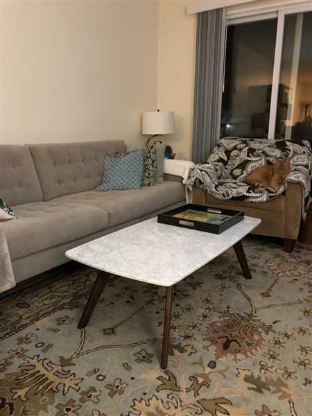 Sue McMaster verified customer review of Riley Marble Rectangle Coffee Table