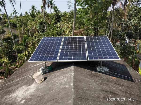 Mohammed Rafeeque V verified customer review of Loom Solar 1 kw Grid Connected AC Module