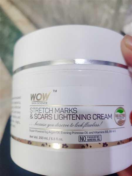 Buywow WOW Skin Science Stretch Marks and Scars Lightening Cream - 200 mL Review