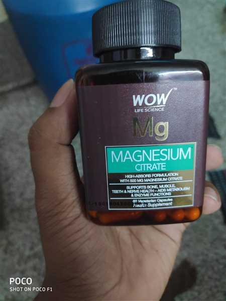 Buywow WOW Life Science Magnesium Citrate 60 Capsules Review