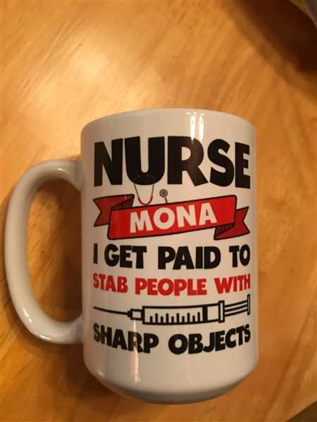 Diverse Threads Nurse Paid to Stab - Personalized Mug Review