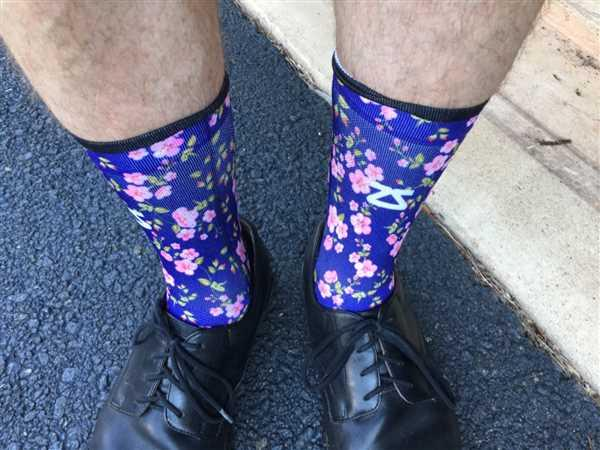 Joseph D. verified customer review of Watercolor Socks (No Show)