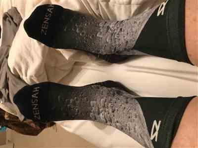 Ines G. verified customer review of Moon Socks (Mini-Crew)