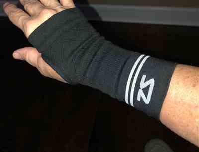 Angela D. verified customer review of Compression Wrist Sleeve
