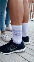 sockprints PROMposal Socks Will You Light Up My Night? White No Show or CrewSocks - Sold by the pair Review