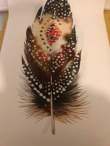 Pamela verified customer review of Feather Wall Art Canvas Print Poster