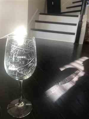 Christina Cole verified customer review of Home Town Maps Stemmed Wine Glass