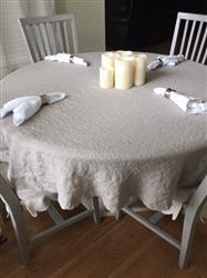 April Womack verified customer review of Smooth Linen Tablecloth