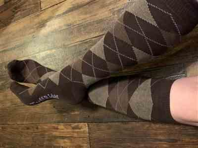 Anonymous verified customer review of Ladies Bamboo Argyle Knee Hi Socks