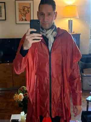 Michael Shattner verified customer review of Red Sparrow Raincoat - Red