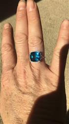 Anonymous verified customer review of 8.54 Ct Cushion London Blue Topaz White Diamond 10K White Gold Ring