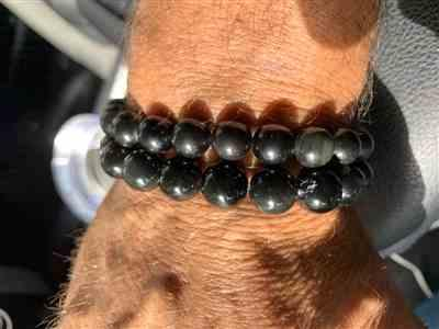 Crystal L. verified customer review of Dragon & Phoenix Obsidian Bracelet
