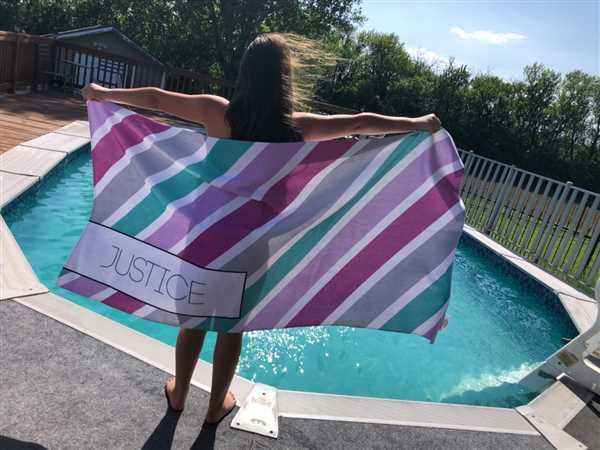 Highway 3 SUMMER STRIPE PERSONALIZED TOWEL Review