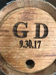 Oklahoma Bride verified customer review of Personalized Mini Bourbon Whiskey Barrel