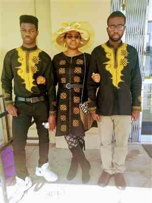 Chinwe  verified customer review of Toye African Print Jacket Dress
