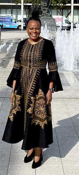 Debra F. verified customer review of Adesoye Jacket Dress