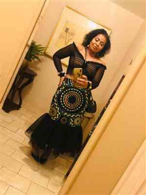 Virginia L. verified customer review of Ayomide African Print Skirt