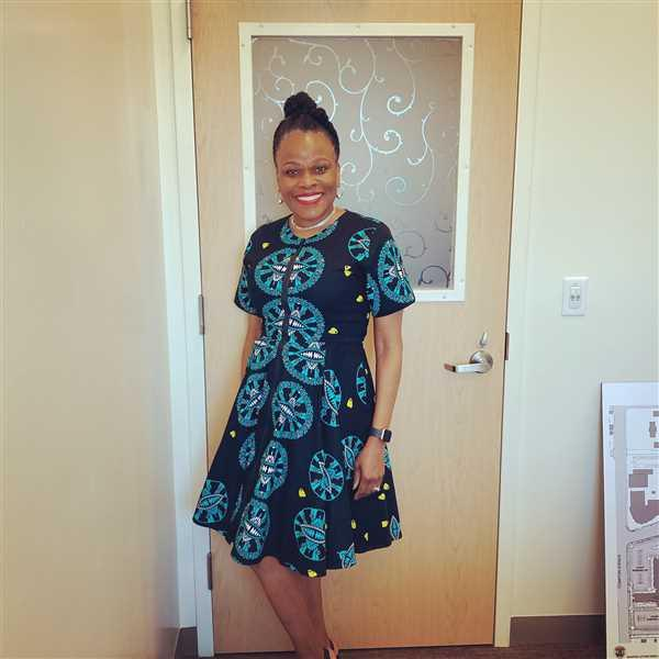 Debra verified customer review of Abifoluwa African Print Jacket Dress