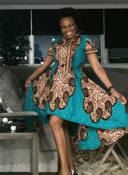 Debra F. verified customer review of Yetunde African Print Dress