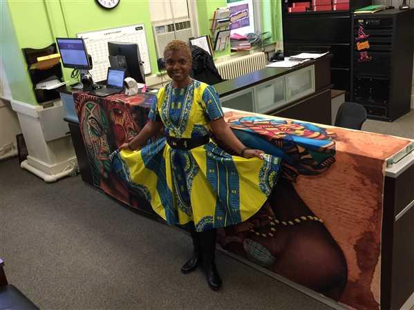 Mortel Grant  verified customer review of Ododo African Print Dress