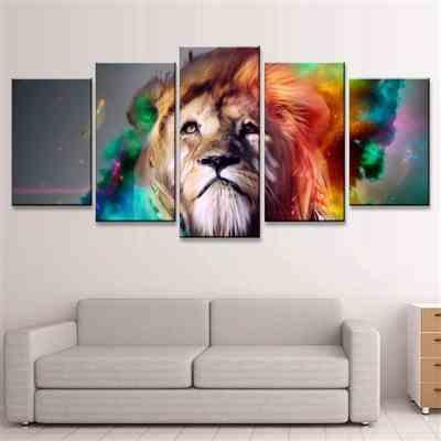 Enjoy Canvas Lion In Colourful Prints Review