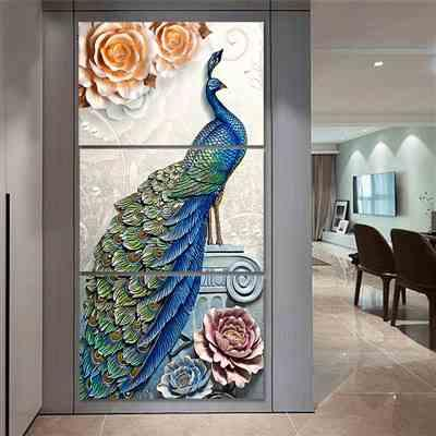 Kylie K. verified customer review of 3 Pieces Peacock in Vertical Canvas Prints