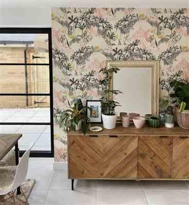 geraldine alessi verified customer review of Queen Palm Wallpaper (Two Roll Set)