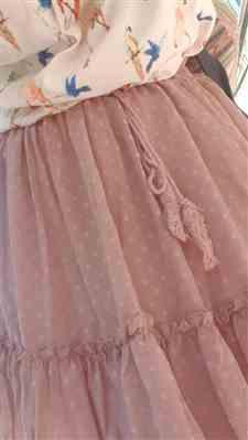 X***o verified customer review of Maui Polka Dot Pink Skirt