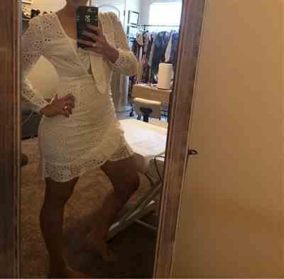 C***o verified customer review of Colette Embroidered Mini Dress White