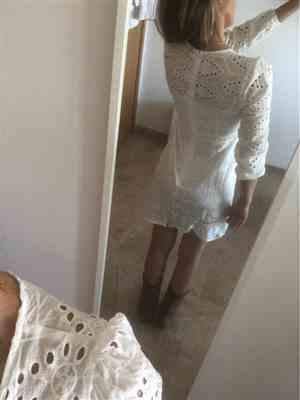 A***n verified customer review of Colette Embroidered Mini Dress White