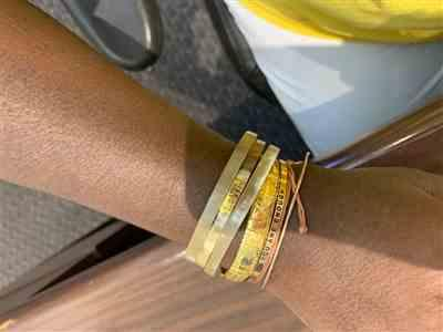 Drenary G. verified customer review of Trinity Horn Bangle - Natural & White