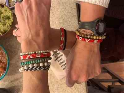 Kellie Brown verified customer review of Bundle - Big Skinny Bracelets - Red / Red / Red