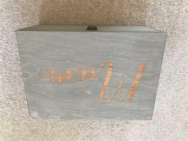 Joanne Roberts verified customer review of Engraved Name Box I Small & Large Wood Boxes With Lock