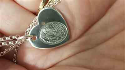 Dawn Moore verified customer review of Fingerprint Large Heart Necklace, One Print