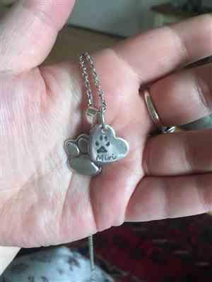 Sera W. verified customer review of Pawprint Small Heart Necklace, One Print And Name