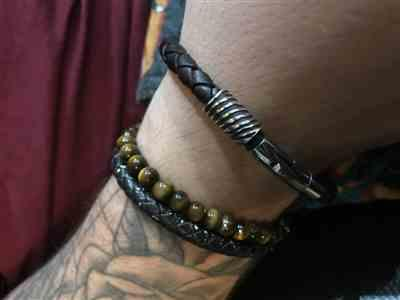 Kerry-Dee Harding verified customer review of Fingerprint Leather Bracelet, One Charm