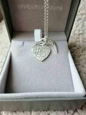 Beverley Lewis verified customer review of Personalised Angel Wing Heart Necklace