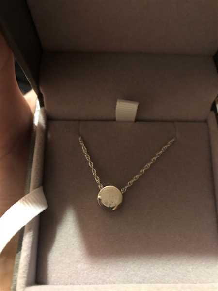 Holly Orr verified customer review of Family Necklace, One Fingerprint Charm