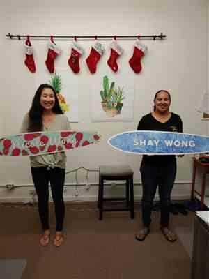 Kiani Wong verified customer review of Personalized Pineapple Name Surfboard