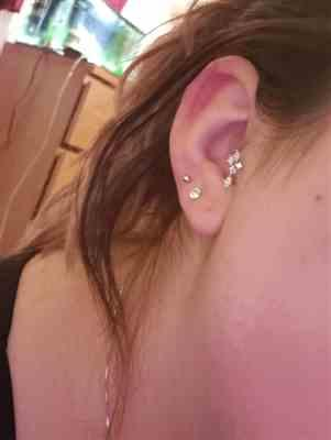 Kaylee Sexton verified customer review of 16G 316L Surgical Steel Surgical Steel Cartilage, Helix, Lobe, Tragus Earrings