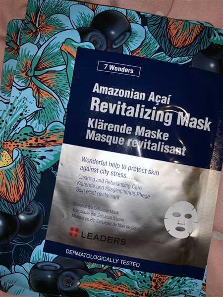 Skin Library LEADERS 7 Wonders Amazonian Acai Anti-Pollution Mask Review