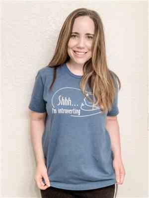 Jenn G. verified customer review of Shhh I'm Introverting Cat Tee