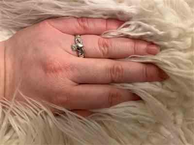 Anonymous verified customer review of Claddagh Silver Ring for Women Irish Woven Band Made in Ireland