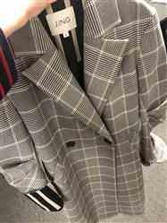 Miao Miao  verified customer review of The Ida Grey Plaid Trench Coat