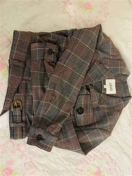 J.ING Lara Grey Plaid Jacket Review