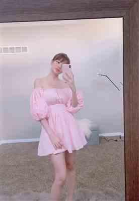 Annie Doan  verified customer review of Pink Claudette Dress