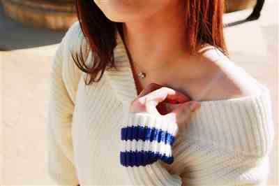Jane A. verified customer review of Varsity White Ribknit Sweater