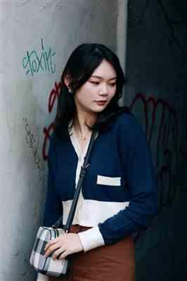 Lychee77 verified customer review of Piper Navy Blue Knit Cardigan