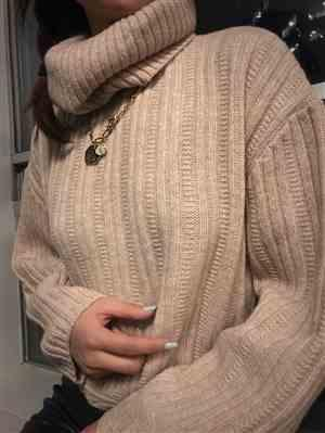 Ingrid verified customer review of Donna Beige Knitted Turtleneck